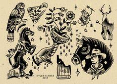 17 Trendy Tattoo Traditional Flash Old School Awesome Boxer Tattoo, Dog Tattoos, Tattoo Drawings, Tatoos, Cowboy Tattoos, Western Tattoos, Traditional Tattoo Inspiration, Traditional Tattoo Design, Tattoos Mandala