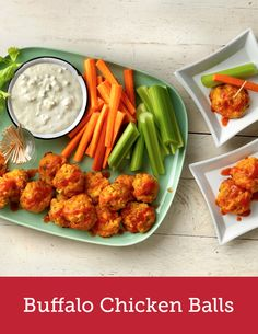 There's no mess required to make these spicy Buffalo bites. Use a rotisserie chicken from the deli, Bisquick and a handful of pantry ingredients, roll everything up and bake them for about half an hour. Serve with blue cheese or ranch dressing and celery sticks and you're all set!