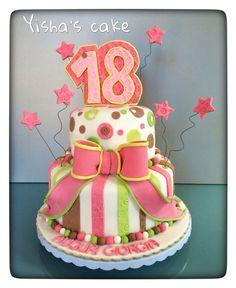 Sweet 18 cake Birthday cake