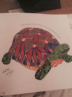 Tortoise From Millie Marottas Animal Kingdom Colouring Book