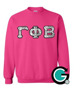 CUSTOM Gildan Stitched Greek (Sorority or Fraternity) Letter Crewneck -- Color your own letters! by GoneGreek on Etsy