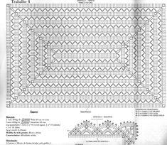 Olá pessoal!!   Mais um lindo trabalho que merece ser compartilhado!  Revista Trabalhos em Barbante Especial Tapetes nº 2. Col Crochet, Crochet Carpet, Crochet Squares, Filet Crochet, Learn To Crochet, Crochet Motif, Crochet Doilies, Crochet Flowers, Crochet Stitches