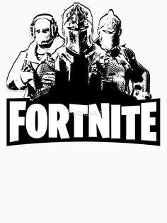 """Fortnite Logo+Skins"" Classic T-Shirt by Futnuuut   Redbubble"