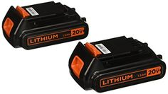 The #Black & Decker LBXR20B-2 20v MAX Lithium Battery (2-pack) is compatible with Black & Decker's 20-Volt MAX line of power and gardening tools. These batteries...