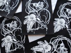 Gothic, punk, naturalistic, dark art patches, labor free clothing, original design, high quality patches, bird skull patches https://www.etsy.com/shop/EasternHawkArt