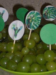 Green Lantern Grapes- superhero party