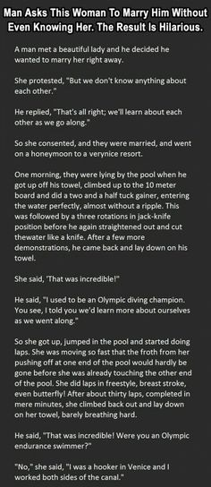 Man Asks This Woman To Marry Him Without Even Knowing Her The Result Is Hilarious funny jokes story lol funny quote funny quotes funny sayings joke humor stories