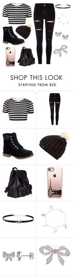 """Eww!! School!!!!"" by lillmaddie ❤ liked on Polyvore featuring Topshop, River Island, Timberland, Superdry, Yves Saint Laurent, Casetify, Giani Bernini, Laura Ashley and Nadri"