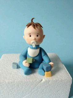 FONDANT baby for baby shower