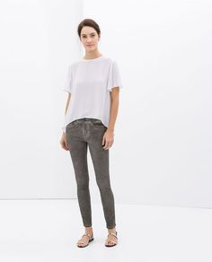 Image 1 of SUPERSKINNY GREY TROUSERS from Zara