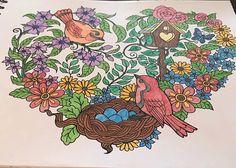 ColorIt Blissful Scenes Colorist: Kat Hildebrandt #adultcoloring #coloringforadults #adultcoloringpages #scenes