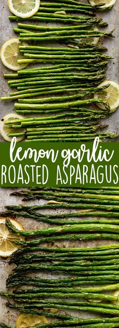 Oven Roasted Asparagus with Garlic, Lemon and Parmesan - this quick and easy side dish is the best way to cook asparagus, and it is ready in under 30 minutes!