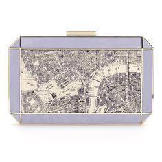 Multi Satin Duke London Clutch Anya Hindmarch Handbags