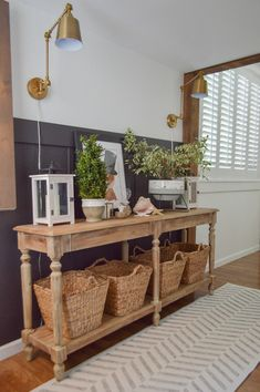 Cottage Entryway, Small Entryway Decor, Entryway Wall, Entry Hallway, Board And Batten, Wall Treatments, Cottage Homes, The Ranch, Diy On A Budget