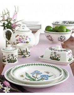 "My everyday china...  Portmerion china, ""Botanical Gardens"""