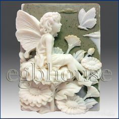 Product description: Material: Flexible Silicone Mold Name: 2D silicone Soap/polymer/clay/cold porcelain mold-Fall Fairy, Tana    Size(inch): 3 1/3 * 2