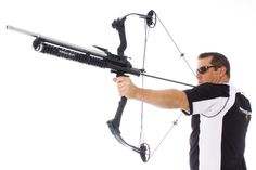 The Airow Gun .22 attachment converts your bow into the most unique pellet-thrusting machine in the woods... The Airow Gun shoots .22-cal. snub, round, or pointed pellets using air-push power provided entirely by your bow's draw. No CO2 or compressed air needed!