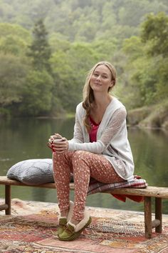 Perfectly feminine pajamas in a delightful mix-and-match prints.