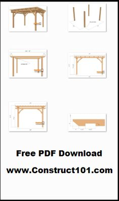 Pergola plans – 10×12, free PDF download, includes step-by-step instructions, drawings, measurements, shopping list and cutting list.