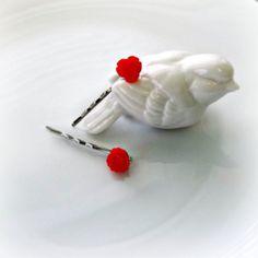 Red Rose Bobby Pins Valentine's Day  Birthday Love by PowersOfLove, $4.50