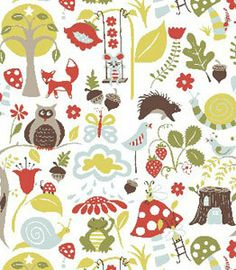 ORGANIC Crib Sheet -- Red Fox Woodland Animals Blue Mushroom -- Fox Hollow Collection. $60.00, via Etsy. A more subtle mushroom.