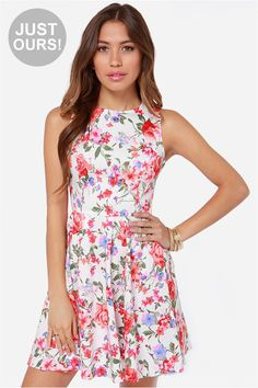 LULUS Exclusive Sixth Scents White Floral Print Dress at LuLus.com! **Recruitment?