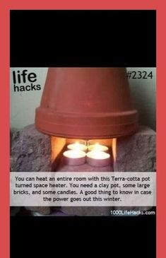 DIY Life Hacks & Crafts : Need a heater? Try this neat life hack! Great idea for… DIY Life Hacks & Crafts : Need a heater? Try this neat life hack! Great idea for camping to warm up a tent… – DIY Loop Simple Life Hacks, Useful Life Hacks, Awesome Life Hacks, Best Life Hacks, Summer Life Hacks, Awesome Stuff, Survival Tips, Survival Skills, Homestead Survival