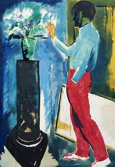 Seine Blumen II by Rainer Fetting (from Galerie Deschler)