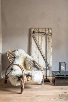 Fresco kalkverf in de kleur Old Romance, toegepast in de woonkamer