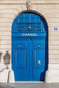 Chanel shop front art photography blue designer home decor pretty chic elegant fashion beauty wall print Light Blue Aesthetic, Blue Aesthetic Pastel, Cool Doors, Unique Doors, Bleu Pastel, Photo Wall Collage, Blue Wallpapers, Blue Walls, Aesthetic Pictures