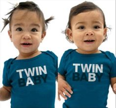 Twin A and Twin B Baby Shirts/Bodysuits for Twins