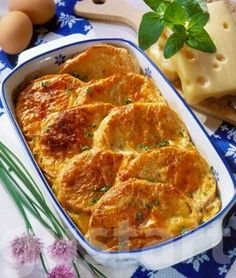 Lajos Mari konyhája - Svájci sajtos kenyérfelfújt Recipe Mix, Hungarian Recipes, Meat Recipes, Lasagna, Mashed Potatoes, Macaroni And Cheese, Food And Drink, Healthy Eating, Dishes