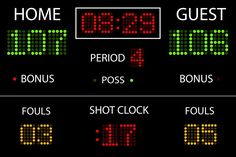 Basketball Scoreboard for any basketball room | Wallmonkeys.com