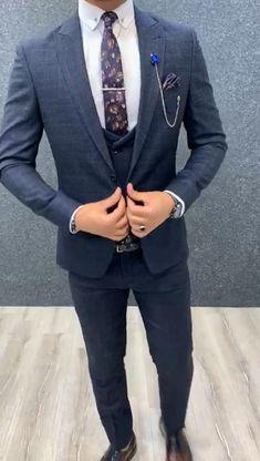 Mens Casual Suits, Grey Suit Men, Dress Suits For Men, Mens Fashion Suits, Mens Suits, Suit For Men, Suits For Short Men, Wedding Dress Men, Man Suit Wedding