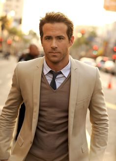 Preppy Ryan Reynolds? Be still my rapidly beating out of control heart