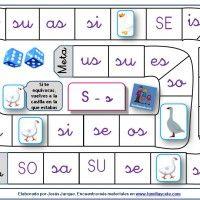Oca para aprender a leer sílabas directas e inversas con la letra S