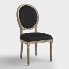 Black Round Back Paige Dining Chairs, Set of 2 - den/ dining room