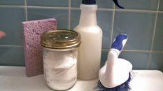 All-Natural Homemade Scouring Powder from WellnessMama.com #cleaning #householdhelp #wellnessmama