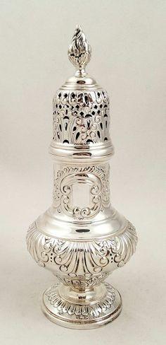Antique Sterling Silver Sugar Shaker / Castor 1900