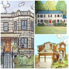 House Watercolor Painting, Custom Home Portrait, Rendering of House, Portrait Artist Robin Zebley by CustomPortraitArt on Etsy