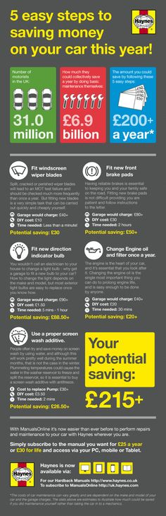 5 Easy Steps To Saving Money On Your Car This Year [INFOGRAPHIC] #saving#money