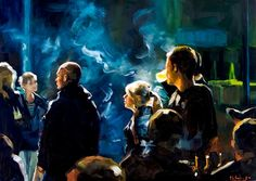 Party - the absolute marvellous paintings of Edward B. Gordon, who also does a painting a day in Berlin http://www.gordon.de