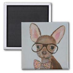 #Funky Chihuahua Mug Magnet - #Petgifts #Pet #Gifts #giftideas #giftidea #petlovers