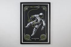 A screen printed poster of the Gemini Project Spacewalk [3000x2000] http://ift.tt/2mB06kQ