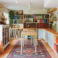 Garage Art Studio, Art Studio Storage, Art Studio Room, Art Studio Design, Art Studio Organization, Craft Room Design, Art Studio At Home, Painting Studio, Home Art