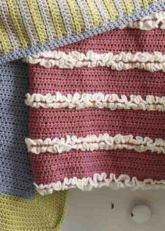 Crochet Pattern: Make It Yours Ruffled Baby Blanket  SKILL LEVEL:  Easy +