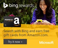 Free Gift Cards from Bing and Microsoft - http://freebiefresh.com/free-gift-cards-from-bing-and-microsoft/