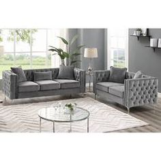 Living Room Sets Modern : Marti Hickory Modern 2 Piece Living Room Set With Living Room Sets Modern Living Room Sets Modern Glam Living Room, Tan Living Room, Minimalist Living Room Decor, Living Room Decor Modern, 3 Piece Living Room Set, Apartment Living Room, Living Room Sets, Living Room Remodel, Living Room Grey