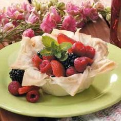 Berries in a Nest Recipe - easy, low-fat, and tastes great!