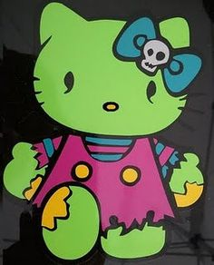 Zombie Hello Kitty Vinyl Decal by AceMade360 on Etsy, $9.00